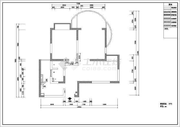 某完整室内装饰装修cad施工方案图-图1