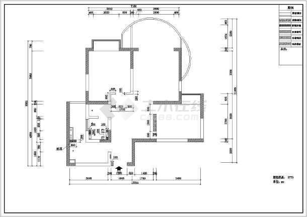 某完整室内装饰装修cad施工方案图-图2