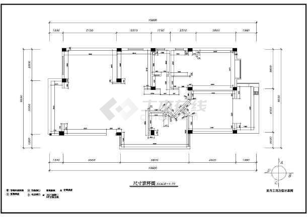 某地区店面室内装修cad设计施工电路商场v店面家庭图纸图纸图片