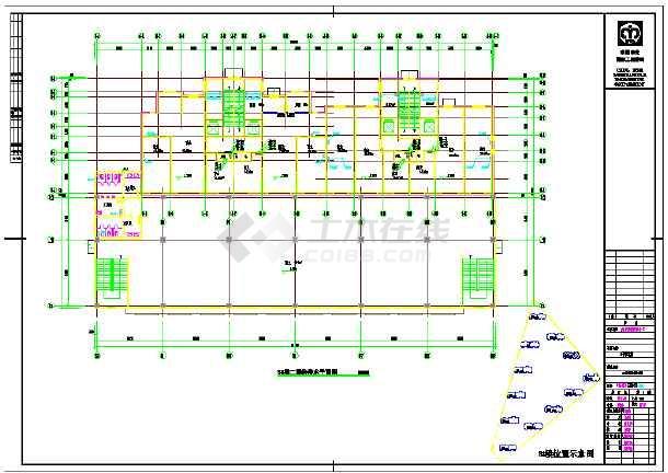 高层单元式住宅楼给排水设计施工cad图-图1