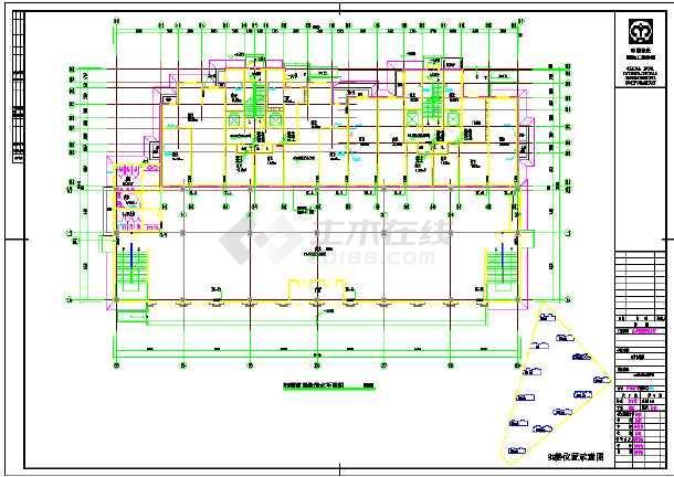 高层单元式住宅楼给排水设计施工cad图-图2