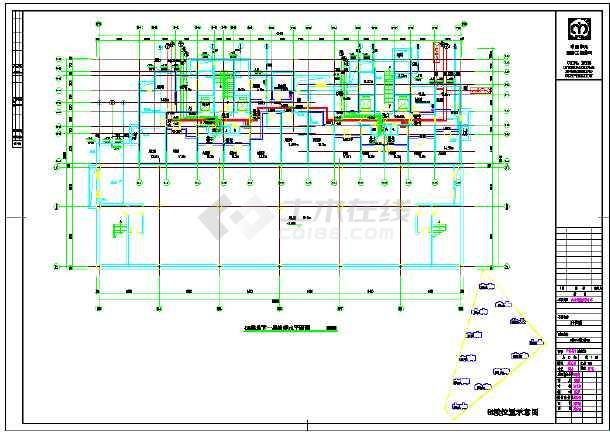 高层单元式住宅楼给排水设计施工cad图-图3