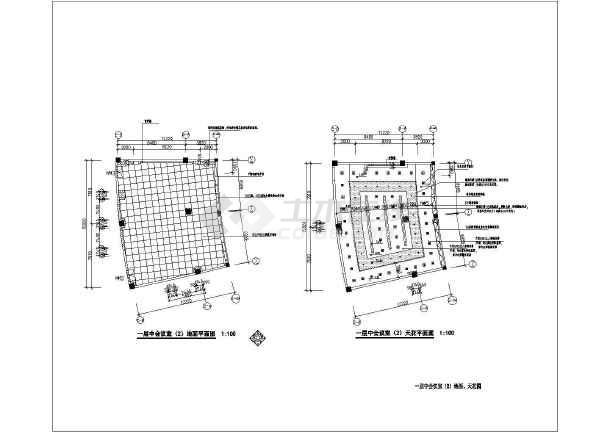 某国企办公大楼会议室设计CAD施工平面图纸-图3