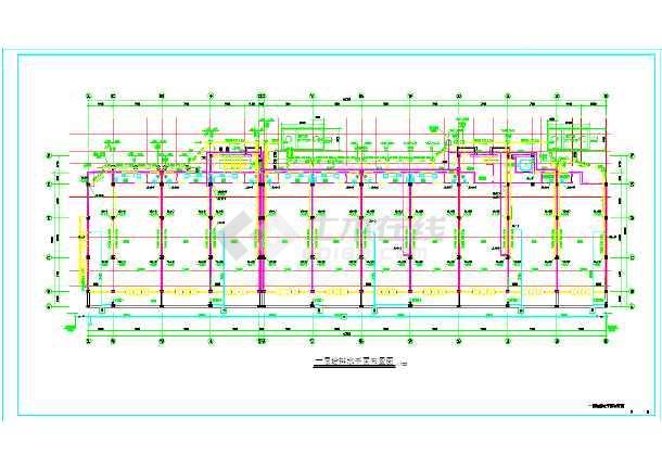 某单元式住宅底商住宅楼给排水施工cad图-图3