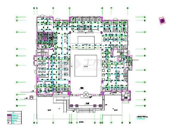 四层售楼部给排水设计图-图3