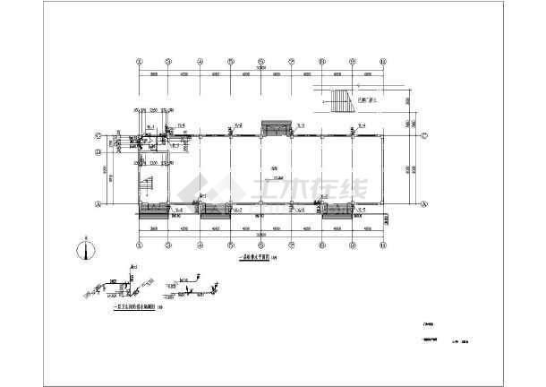 某三层厂房给排水cad施工设计图纸-图2