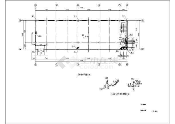 某三层厂房给排水cad施工设计图纸-图3