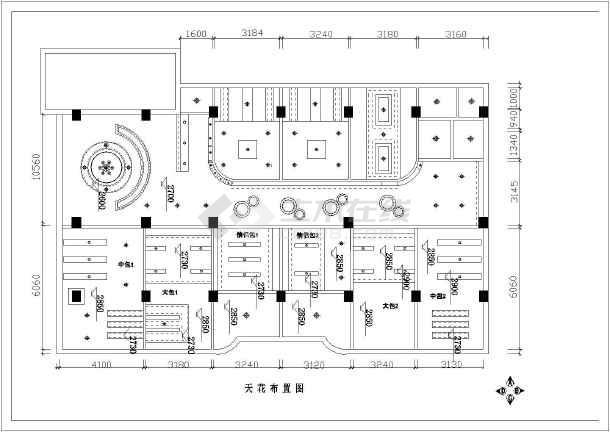 某整套咖啡厅室内装修cad施工图纸-图1