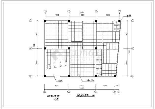 某办公楼建筑全套装修方案施工图纸-图2