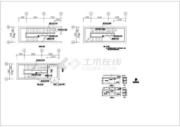某燃气公司运营中心室内装饰装修cad施工图纸-图2