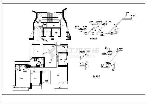 某地区家装水电装修cad设计施工图纸