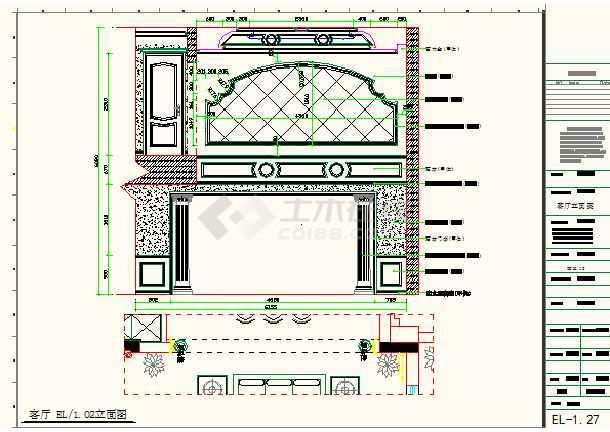 某地小型豪华别墅装修施工图纸(全集)-图1