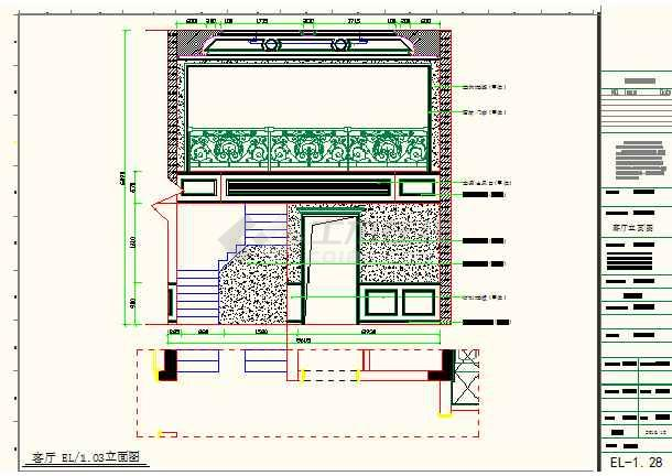 某地小型豪华别墅装修施工图纸(全集)-图2