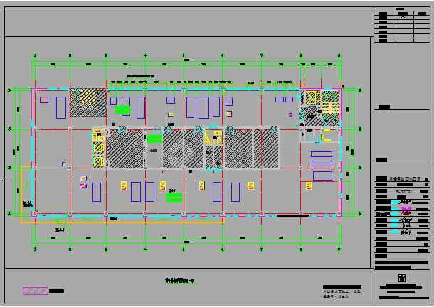 某地区科技园生物平台室内装修施工图-图1