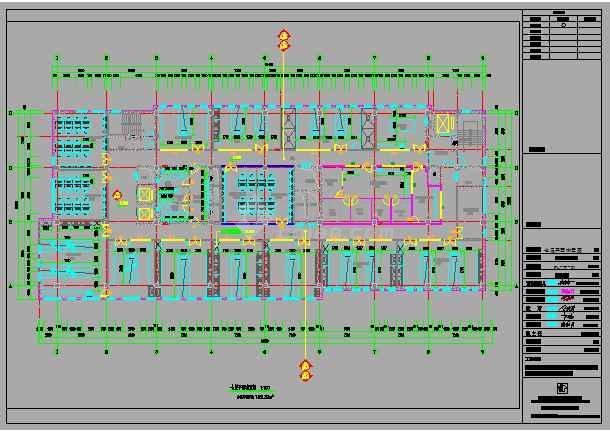 某地区科技园生物平台室内装修施工图-图3