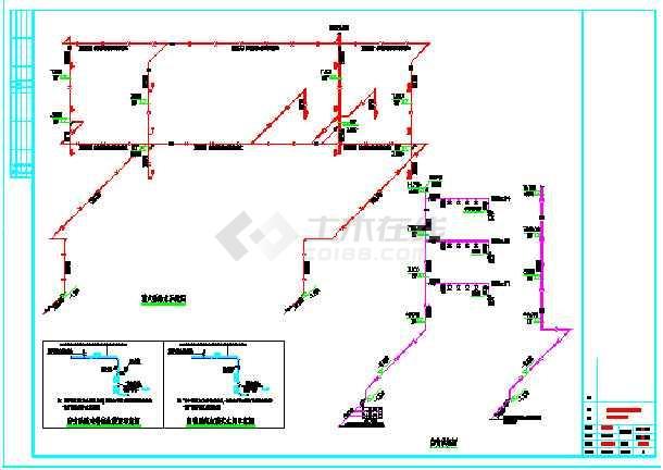 某三层中型幼儿园全套给排水cad施工图-图1