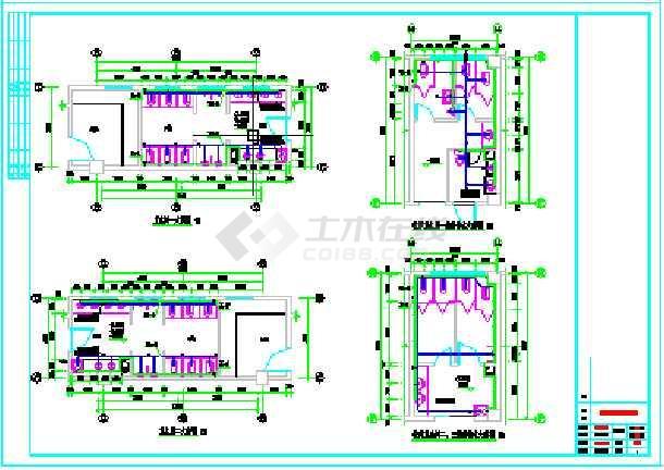 某三层中型幼儿园全套给排水cad施工图-图2