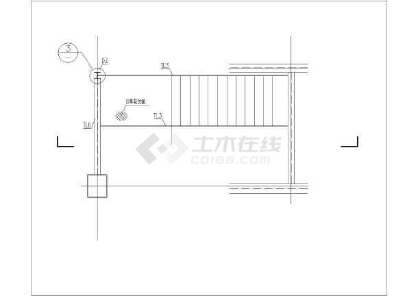 某钢楼梯结构cad施工图纸