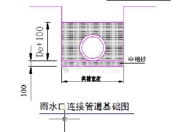 给排水大样埋地塑料管设计图纸-图1