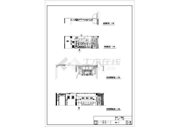 某经典中式家装cad装修设计施工图图片