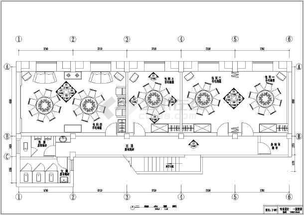 某商铺室内装修方案cad施工设计图