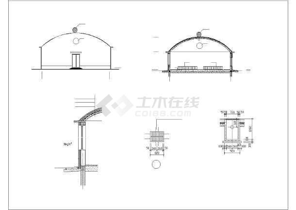 某猪舍建筑结构CAD施工设计价格天图纸图纸刀良宅图片
