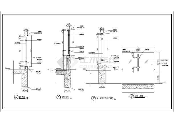 玻璃栏板,栏杆,阳台栏杆建筑设计图