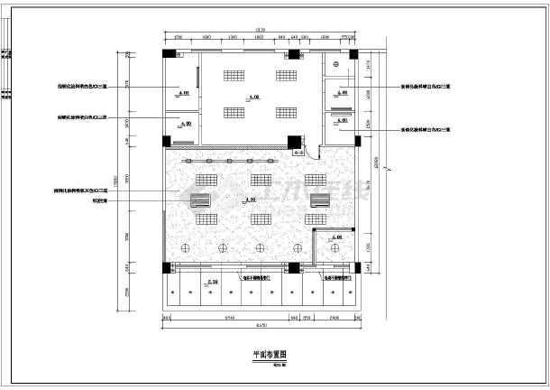 某营业厅全套室内装饰装修cad施工设计图