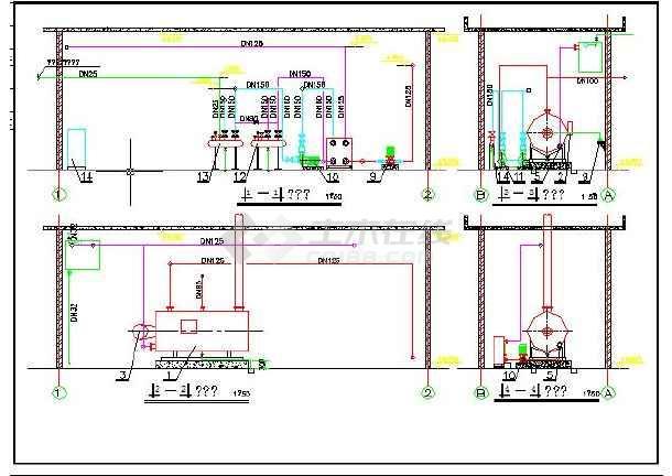 燃气热水锅炉房图纸_采暖锅炉房全套图纸_cad图纸下载-土木在线