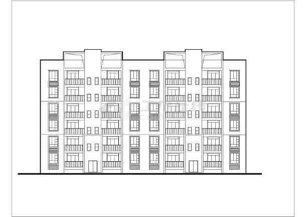 底框住宅廉租房建筑设计施工图