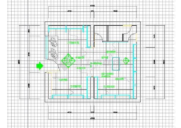 某小型服装店室内装修cad平面施工方案图