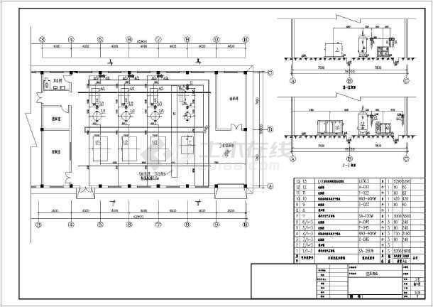 空压机站图纸工艺全套_cad图纸缩放cad下载小图怎么图片