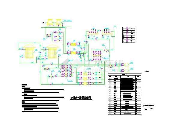 水蓄冷空调系统图_cad图纸下载-土木在线