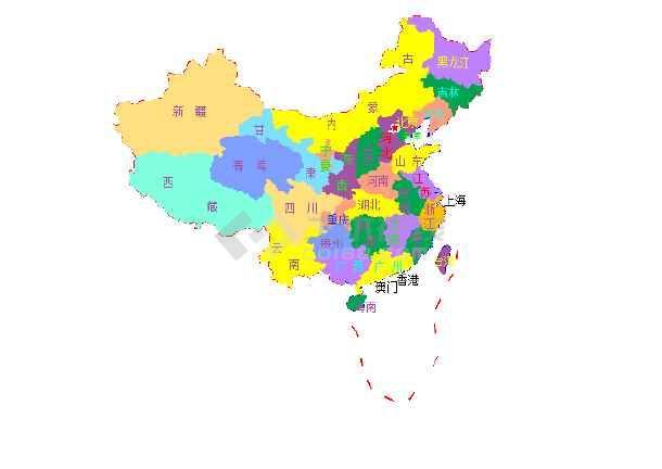 CAD办公中国地图制作物业cad图片
