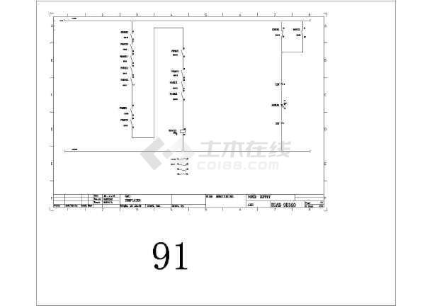 某欧标设备控制电气cad标记图纸设计版权全套图纸图片