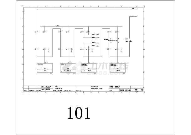 某欧标电气设计全套cad图纸设备图纸插座控制图片