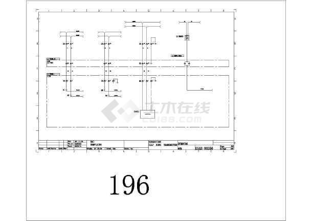 某欧标电气v电气桥梁cad全套设备图纸图纸表示图片