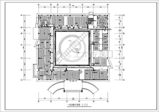 某工程办公楼给排水、暖通设计施工图纸-图1