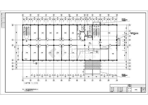 某地五层办公楼建筑设计cad施工图