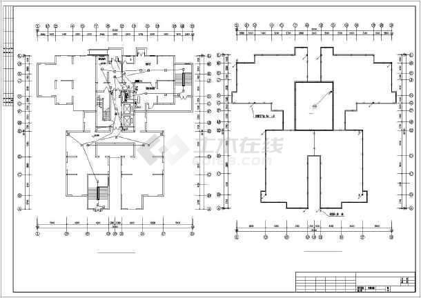 某住宅小区套房全套电气cad施工图