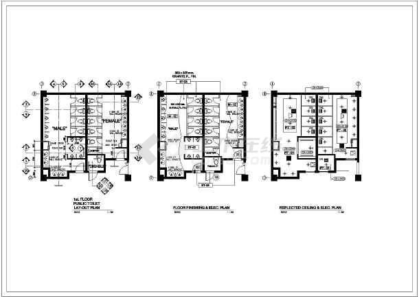 经典室内卫生间装修cad全套设计施工图-图1
