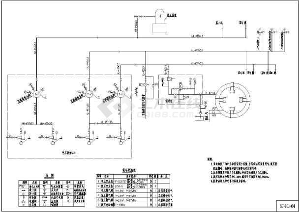 小水图纸机电CADv图纸电站(HL)lng加气站cad工艺流程图片