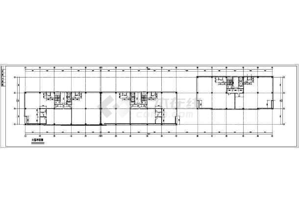 某六层商场住宅综合大楼建筑设计图