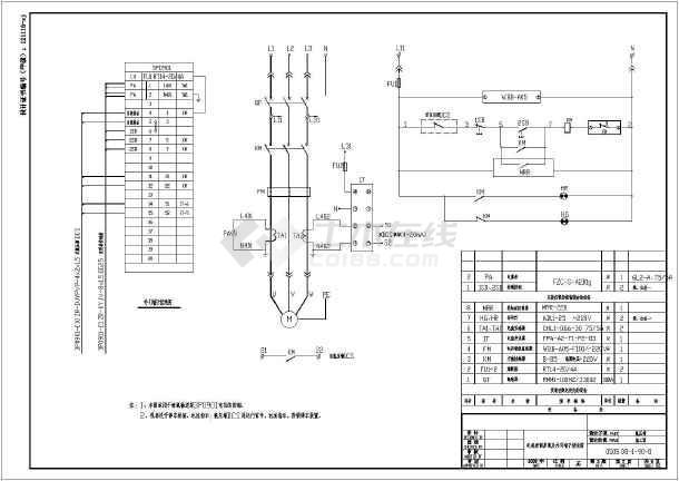 电机控制原理及外引端子接线cad图