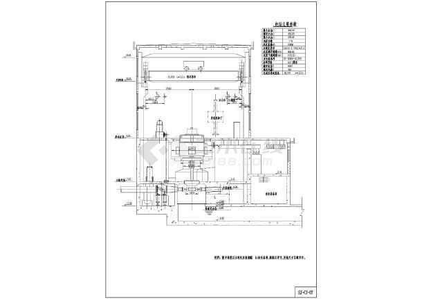 小型水电站机电冲击CAD图(设计式)cad2014段线多长度图片