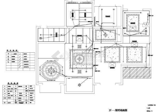 地豪宅居住建筑水电cad施工图