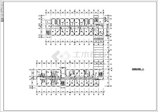 某学校宿舍楼弱电设计施工示意CAD图-图1