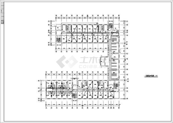 某学校宿舍楼弱电设计施工示意CAD图-图2