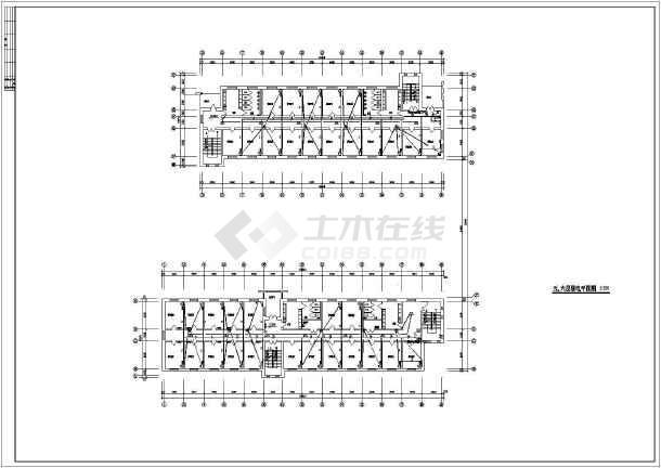某学校宿舍楼弱电设计施工示意CAD图-图3