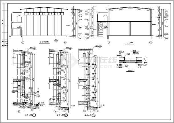 某食堂钢结构建筑设计全套施工方案图-图2